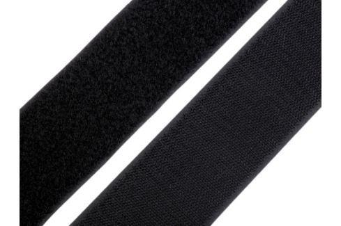 Suchý zips háčik + plyš šírka 50 mm čierna 75m