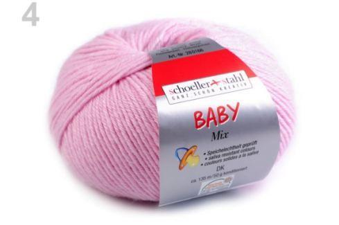 Pletacia priadza 50 g Baby mix ružová detská 1ks