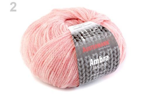Pletacia priadza 50 g Ambra ružová prášková 1ks