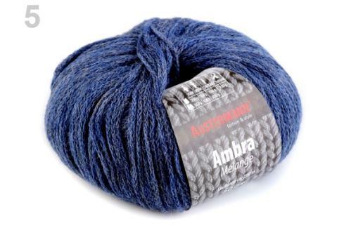 Pletacia priadza 50 g Ambra modrošedá tm. 1ks