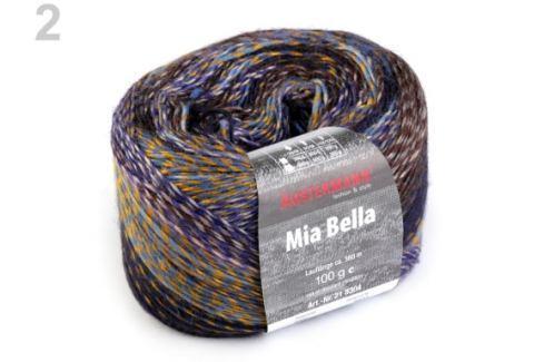 Pletacia priadza 100 g Mia bella modrá safírová 1ks