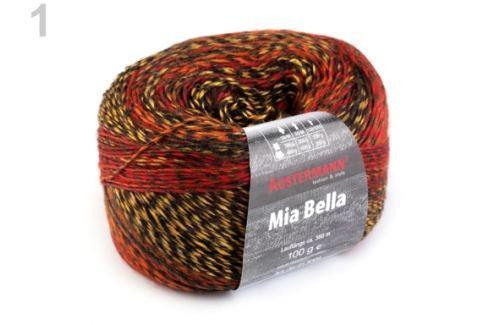Pletacia priadza 100 g Mia bella červená 1ks