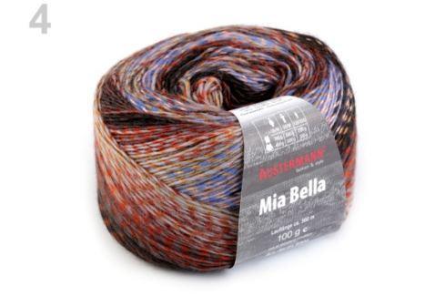 Pletacia priadza 100 g Mia bella čierna 1ks