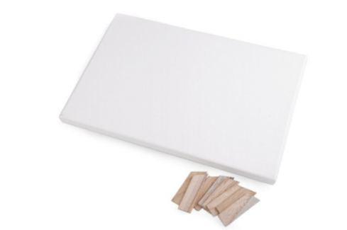 Maliarske plátno na ráme 20x30 cm biela 1ks Stoklasa