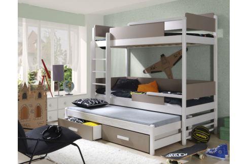 fe693beffb50 Výpredaj ArtBed Detská poschodová posteľ Quatro Prevedenie  Borovica ...